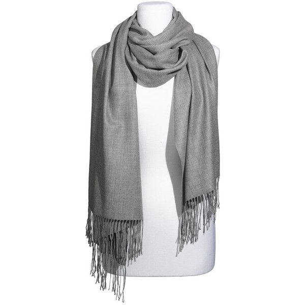 Nordstrom Tissue Weight Wool & Cashmere Wrap Womens Gray Medium... ($88) ❤ liked on Polyvore