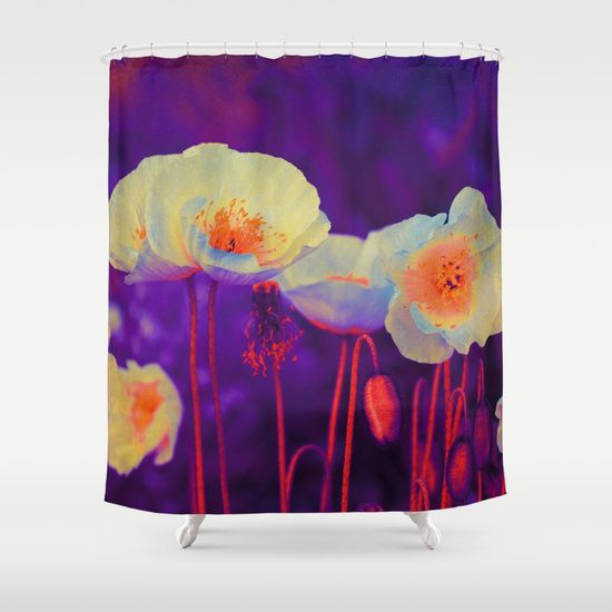 Poppies(purple glow) Shower Curtain