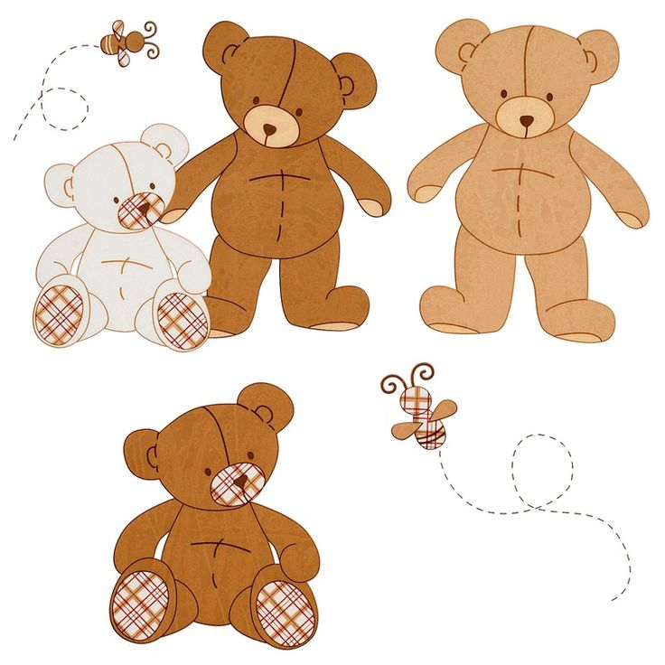 Teddy Bears Removable Wall Decals for teddy bear nursery