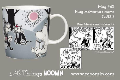 Moomin.com - Moomin mug Adventure move / Eventyret flytter