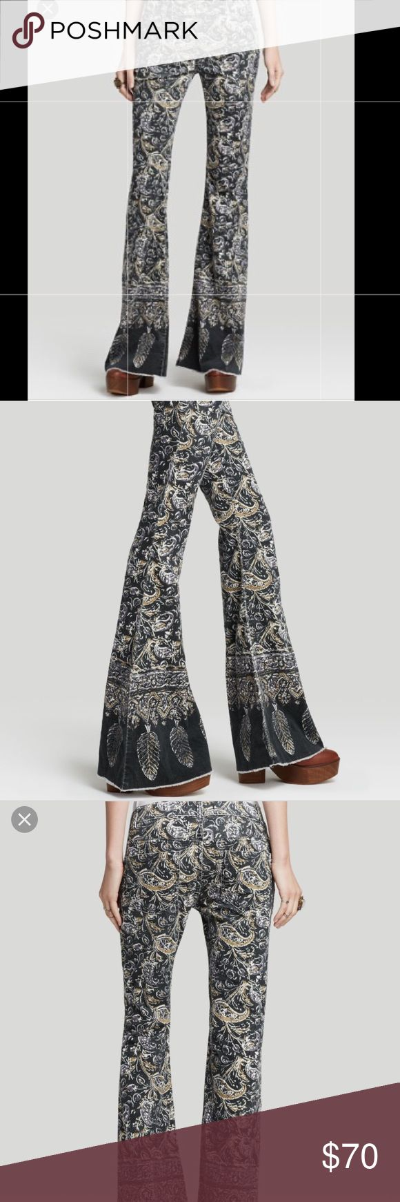 Free People Indian Print Bali Flare Jeans 28 New store display Free People Jeans Flare & Wide Leg