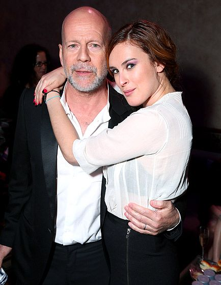 A Daughters Love Rumer Willis supported father Bruce Willis at the afterparty for the Hollywood premiere of G.I. Joe: Retaliation on March 28.