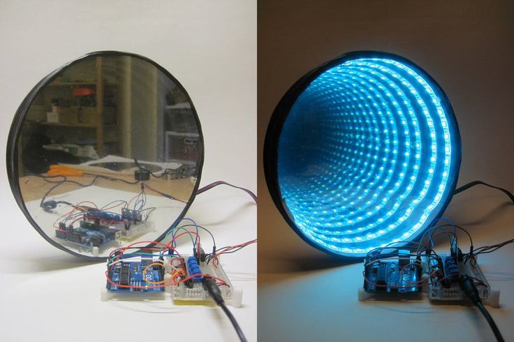 Awesome project: Arduino-Controlled RGB LED Infinity Mirror by Ben Finio
