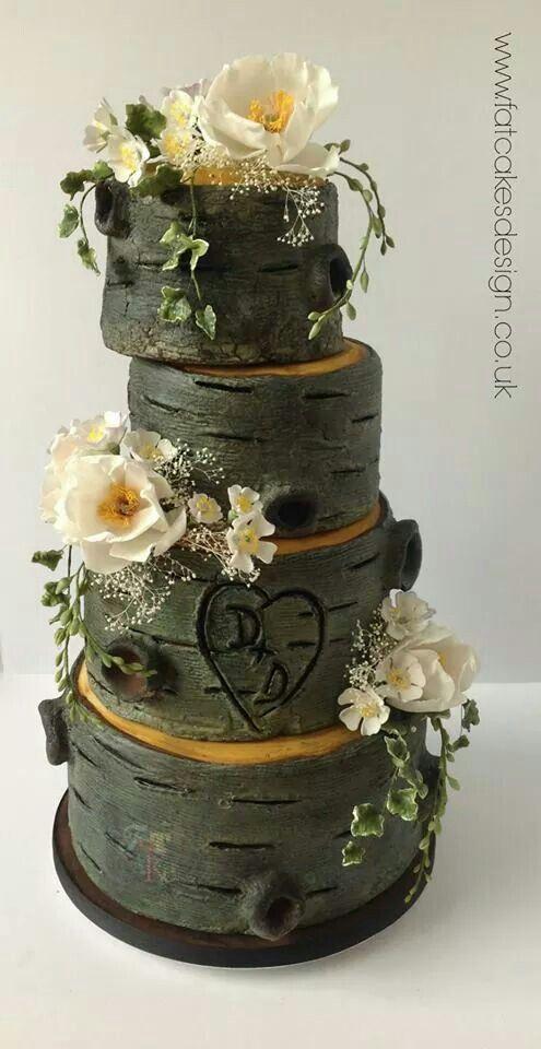 Woodland Wedding Cake Pinterest