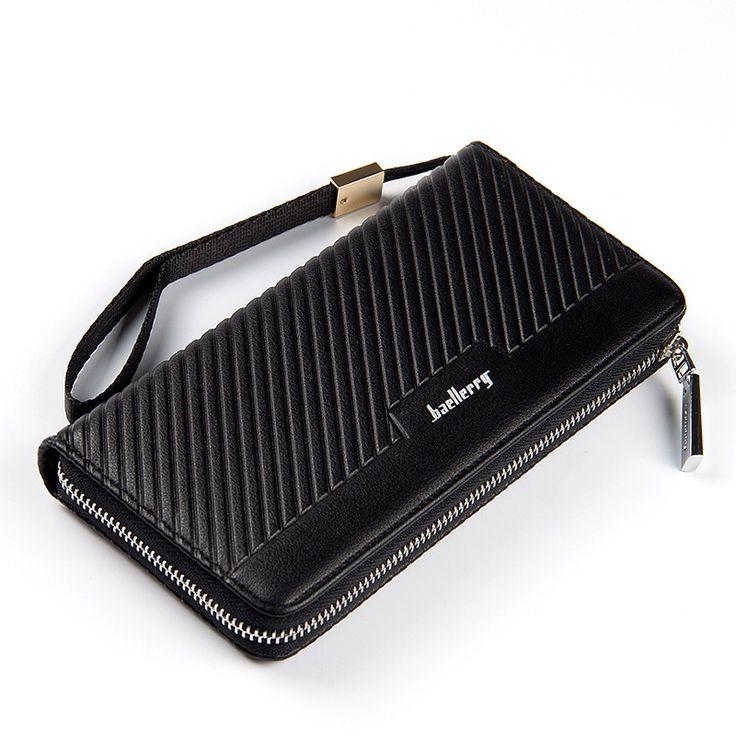 $9.08 (Buy here: https://alitems.com/g/1e8d114494ebda23ff8b16525dc3e8/?i=5&ulp=https%3A%2F%2Fwww.aliexpress.com%2Fitem%2FLuxury-Brand-Wallet-Bag-Soft-Genuine-Men-Wallets-Fashion-Fold-Clutch-Wallet-Coin-Purse-Removable-Wallet%2F32710022434.html ) Brand Men Wallet Stripe Clutch Bag Designer Casual Men Clutch Wallets Long Large Capacity Wallet Male Zipper Purse Money Pocket for just $9.08