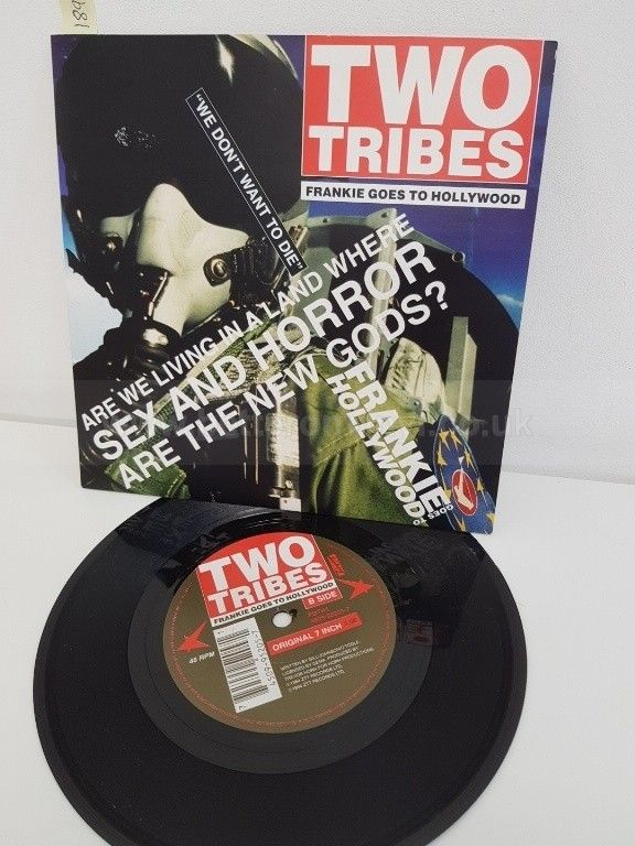 FRANKIE GOES TO HOLLYWOOD, two tribes fluke's minimix, B side two tribes original 7 inch, FGTH4, 7 - NEW IN FOR December 2017