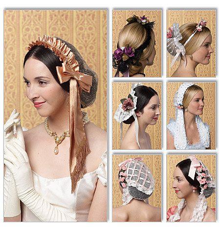 Diy Sewing Pattern-Butterick 5663-Victorian Hats, Bonnets. $6.00, via Etsy.