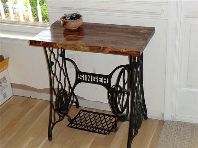 repurposed front door singer table project treadle sewing machinessewing