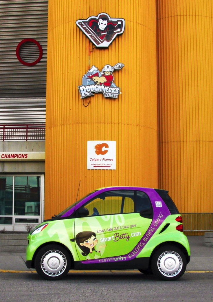 Smart Betty getting ready for the Calgary Roughnecks' Tailgate Party - May 5 [Cinco de Mayo]