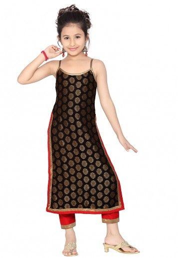 Multi Colored Faux Georgette Weave Salwar Kameez