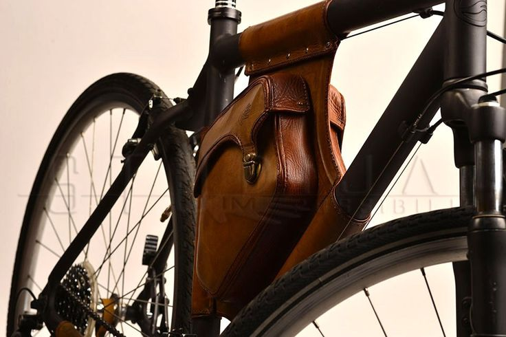 Triangle Leather Bicycle Bag 3