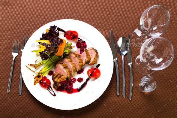 Duck baked with vegetables and herbs - Stock Photo - Images Download here : https://photodune.net/item/duck-baked-with-vegetables-and-herbs/20085779?s_rank=6&ref=Al-fatih