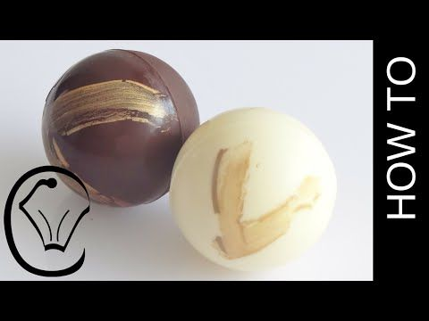 Chocolate Spheres with Gold Accents How To by Cupcake Savvy's Kitchen - YouTube