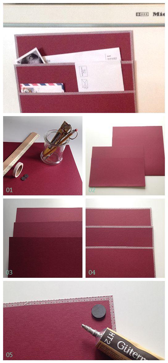 the magnetized mail holder tutorial boite courrier pinterest rangement boite et id e. Black Bedroom Furniture Sets. Home Design Ideas