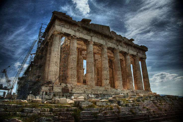 The Parthenon at the Athenian Acropolis, Greece