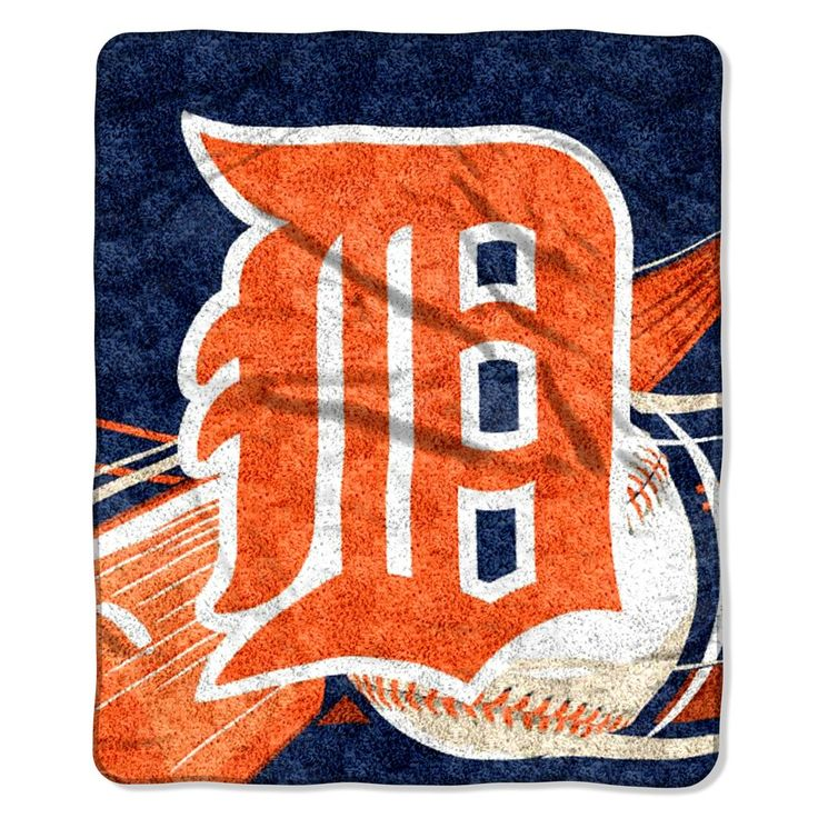 Detroit Tigers Blanket 50x60 Sherpa Big Stick Design