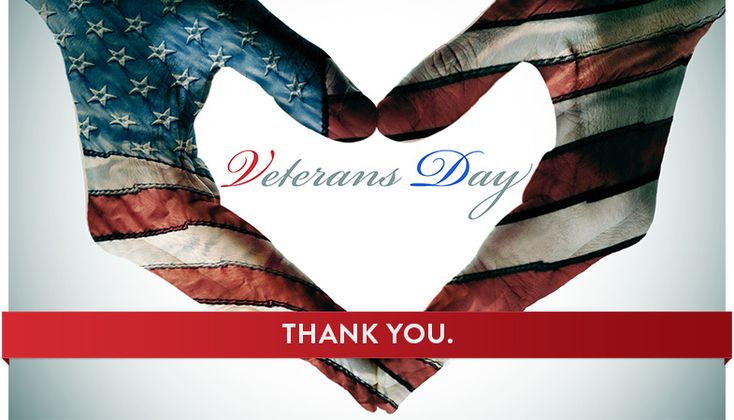 To all veterans, with endless appreciation and gratitude, I wish you a Happy Veterans Day! Thank you for serving our country and protecting our freedom!