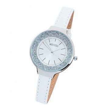 Фото Белые часы co Swarovski Elements Glitter White