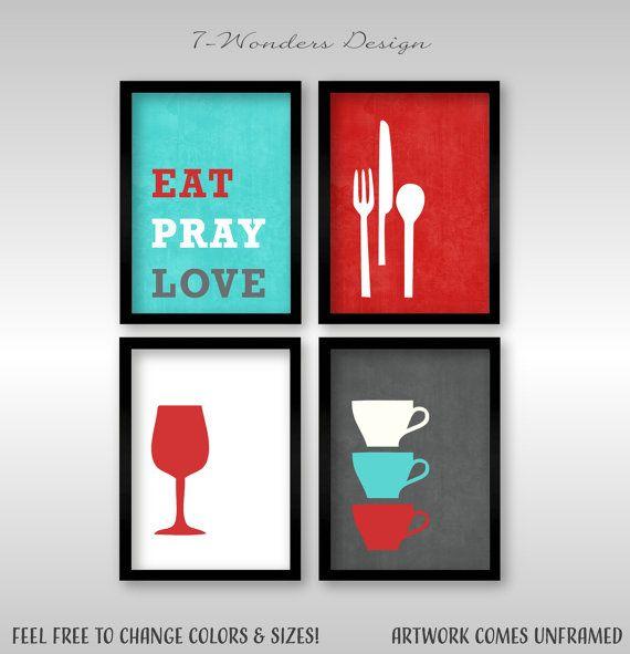 Modern Kitchen Wall Art Print Set Inspirational By: Best 25+ Red Turquoise Decor Ideas On Pinterest