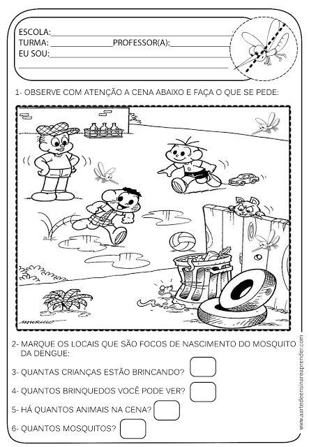 A Arte de Ensinar e Aprender: Atividade pronta - Temática Dengue