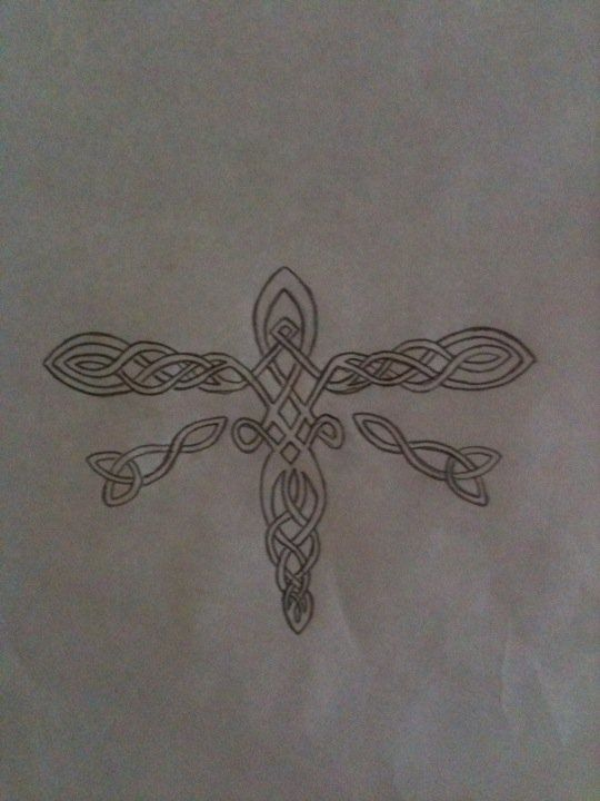 Celtic Dragonfly Designs Celtic Dragonfly Tattoo Design