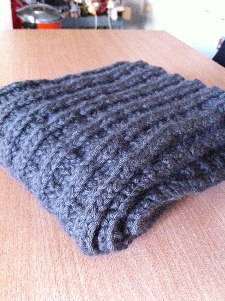 écharpe homme noel noël facile tricot
