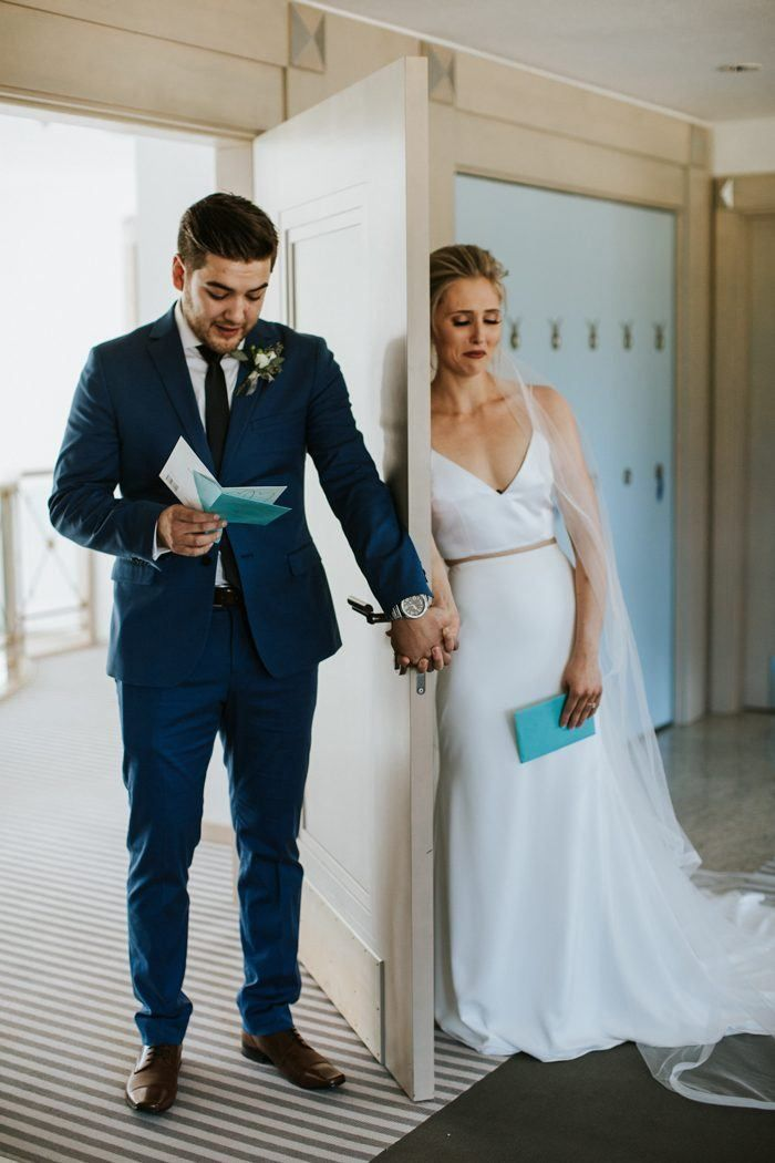 First look alternative - This Cherry Creek Estate Wedding Showcases an Effortless Neutral Color Palette