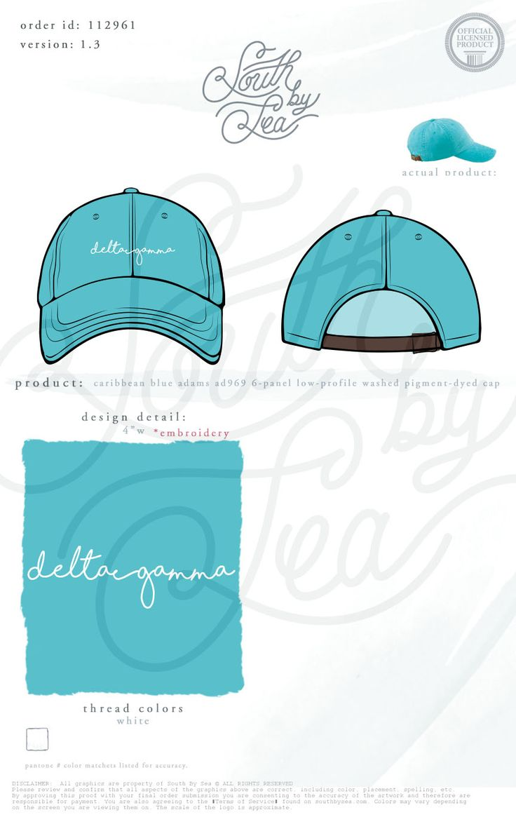 Delta Gamma | Sorority Ball Cap | DG | Script Hat Design | Sorority Accessories…