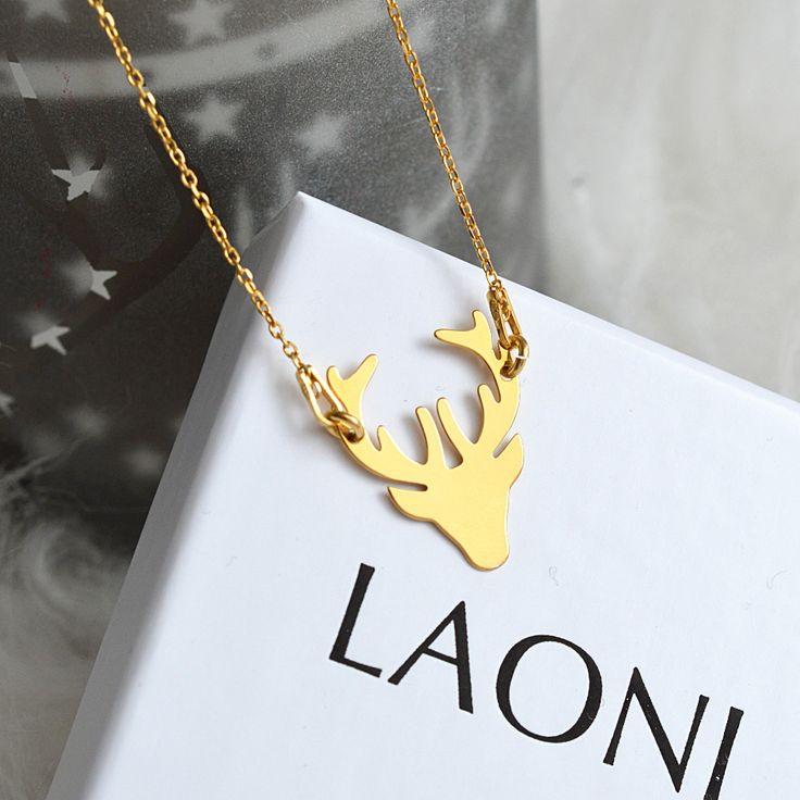 Naszyjnik celebrytka jelonek złoty  >>> https://laoni.pl/Naszyjnik-celebrytka-jelonek-zloty #prezent #biżuteria #naszyjnik #celebrytka #jelonek