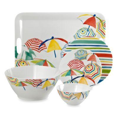 Stripes on the Strand Dinnerware Collection - BedBathandBeyond.com
