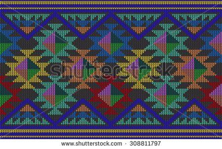 Wayuu Mochila pattern Tribal Aztec Pattern. Geometry Vector illustration