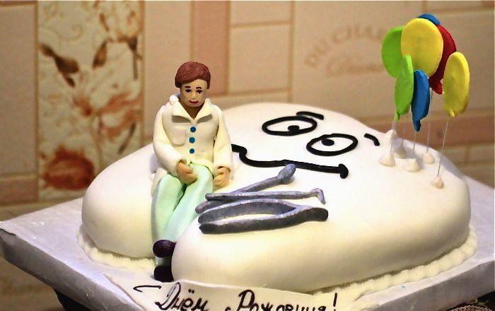 Торт в виде зуба фото
