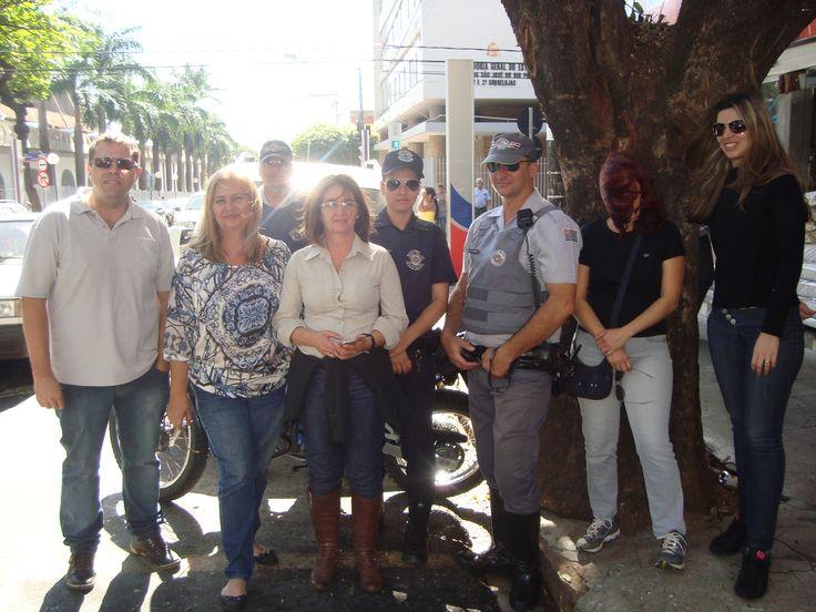 Marcelo Amaral, eu, Rigonato, Adriana Armani, Aline, Parcio, Cheyla e Aline