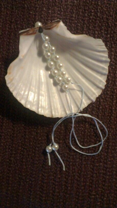 Ring (kussentje) schelp bruiloft dochter