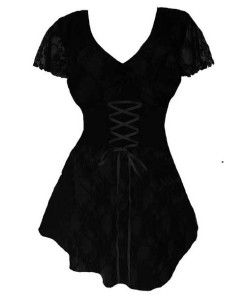 sweetheart short sleeve black corset tops for curvy women 1x, 2x, 3x, 4x, 5x plus size