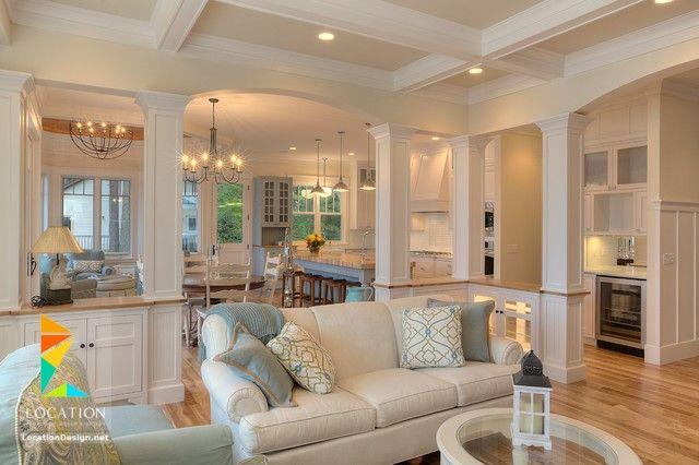 كولكشن مطابخ مفتوحه على الصاله للشقق الحديثة لوكشين ديزين نت House House Design Home