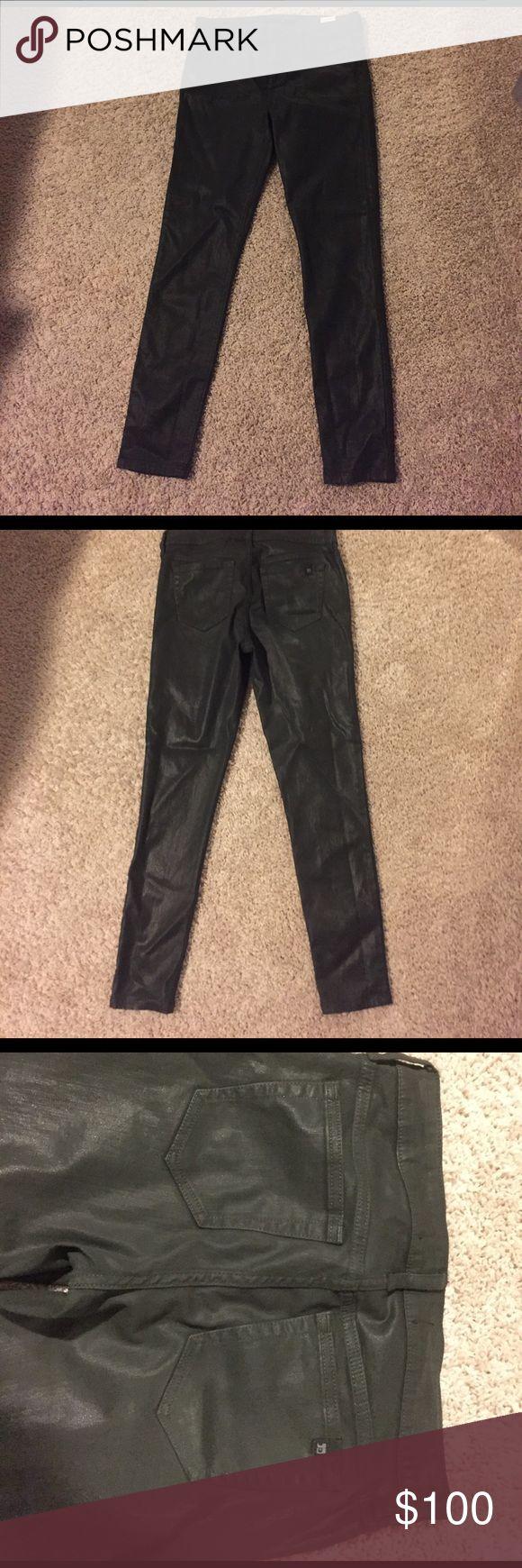 Joe's jeans forest green leather skinny pants Joe's jeans forest green leather skinny pants. Size 28. Like new, only worn once! Joe's Jeans Pants Skinny