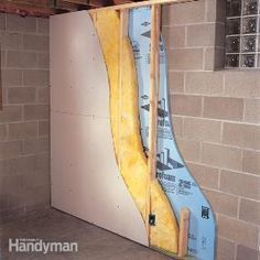 How to Finish a Basement Wall - Just for reference for the laundry room