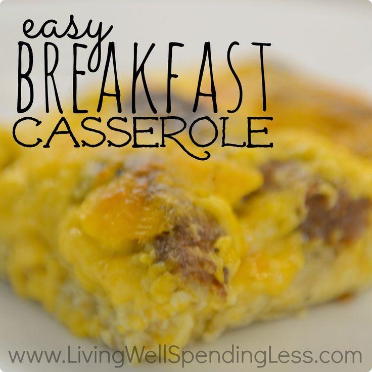 Easy Breakfast Casserole - make night before