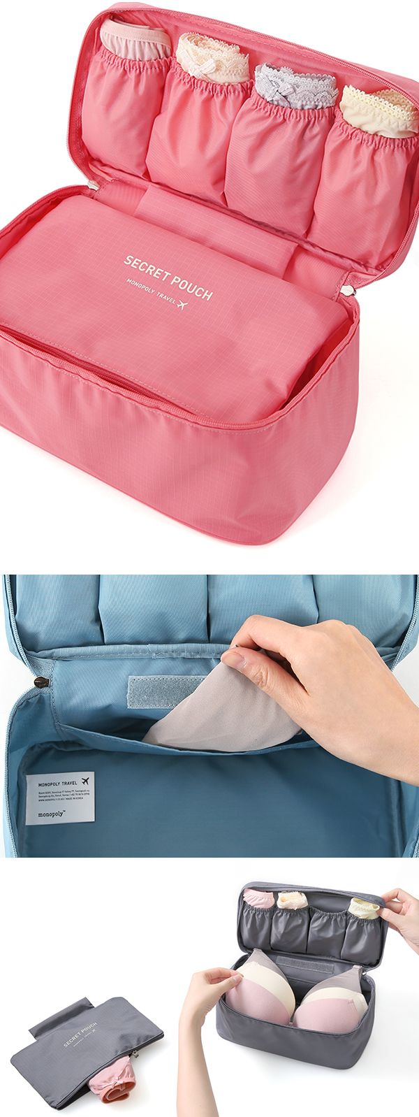 Let me share an awesome tip to pack your undies in a brilliant way for your next travel! The Underwear Pouch v2 features a spacious compartment, useful pockets and a detachable pouch that is suitable for various purposes, and all the features will be great help to organize your underwear and items more easily and efficiently!