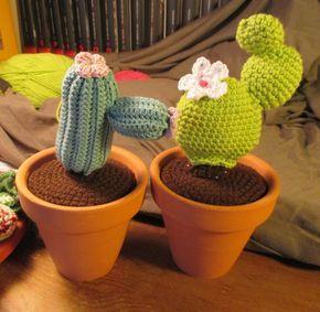 Cactus Amigurumi. Patrón chumbera gratis