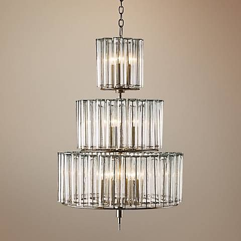 """Currey and Company Bevilaqua 43"""" High Silver Chandelier - #3J989 