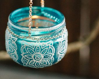 Hanging tea light candle tea light candle by MagicFeatherShop