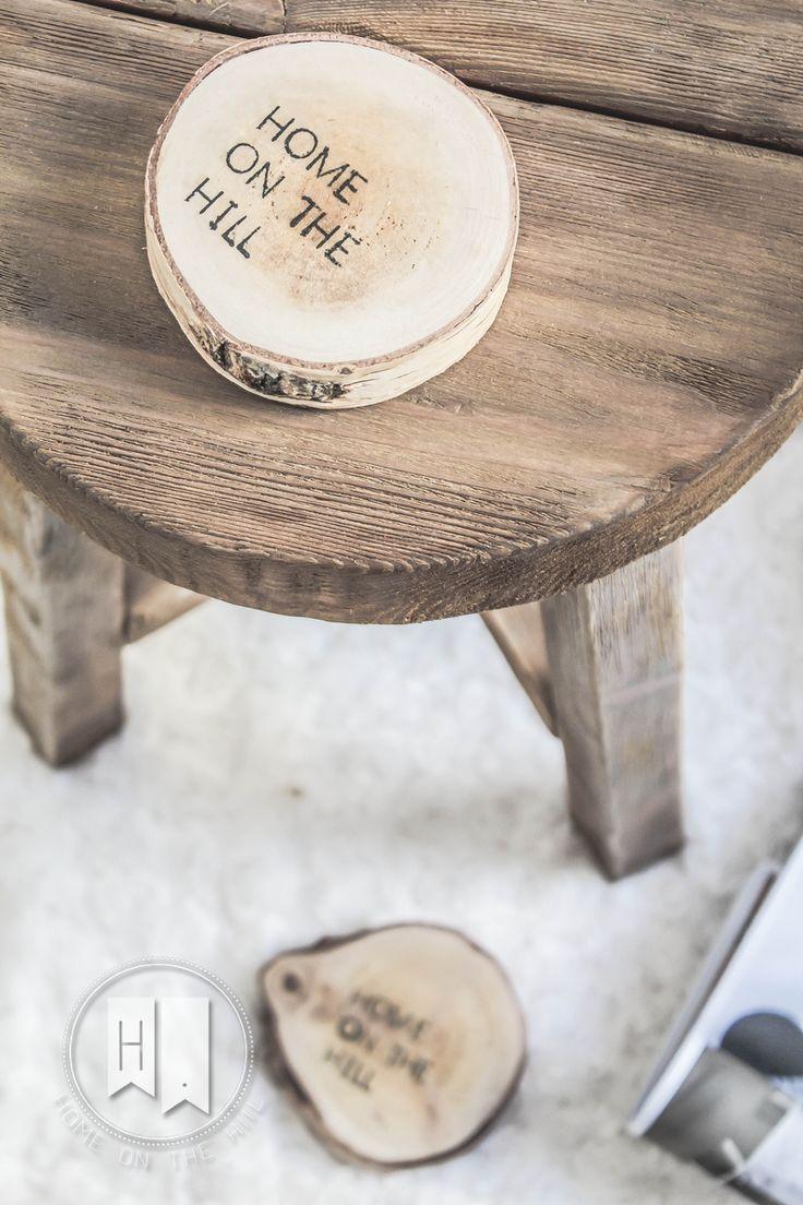 DIY stołek skandynawia