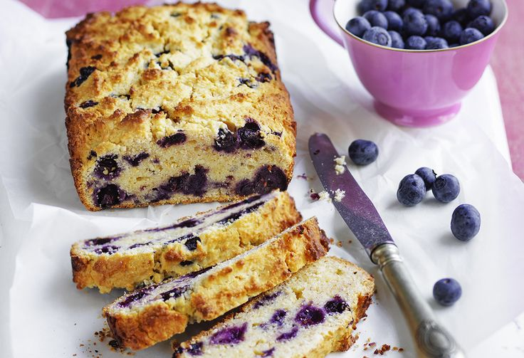 Great as a lunch box filler, this tasty treat can be served warm or cold. The pretty blueberry sweet bread will also make a fantastic slice with a cup of tea.