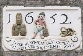Een mooie originele gevelsteen uit het jaar 1652.