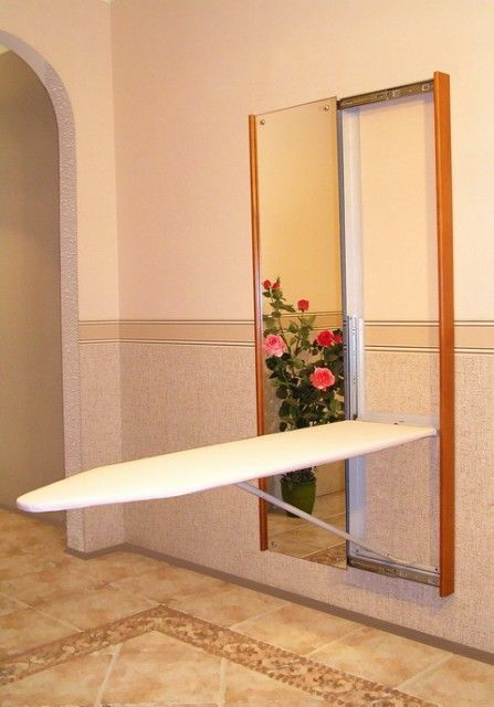 Exceptionnel Large Built In Ironing Board. Do You Have Room In Your Laundry Room For  This. I Like How The Mirror Slides To Hide It