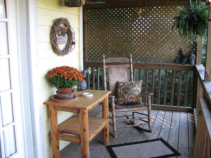Front Porch Furniture  Rocking Chairs In Front Porch Design Ideas ...