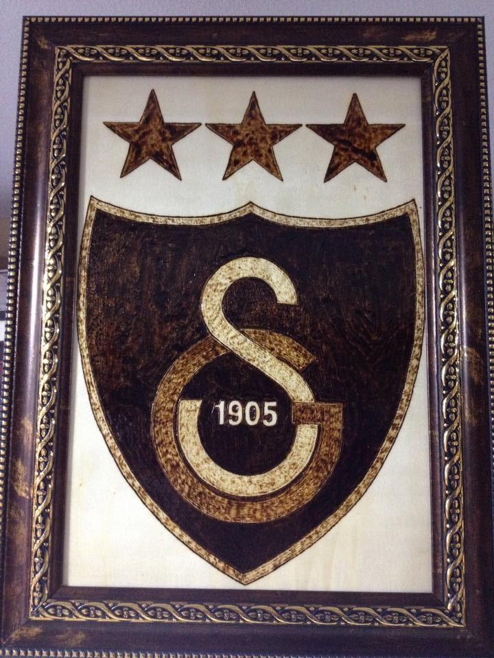 ahşap yakma galatasaray logo