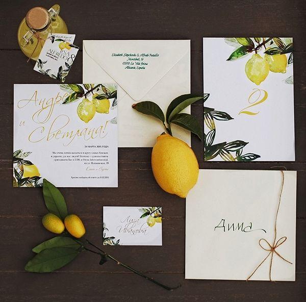 Invitation set for wedding in Ravello on Behance